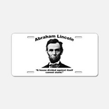Lincoln: House Aluminum License Plate