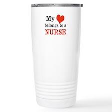 My heart belongs to a Nurse Travel Mug