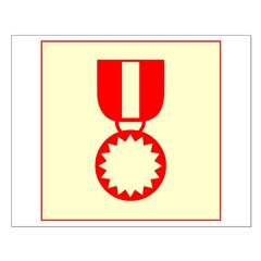 Red Ribbon Medal Posters