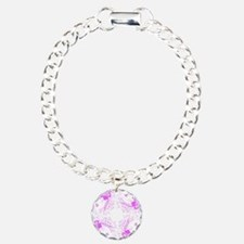 Purple Awareness Woman Circular Bracelet