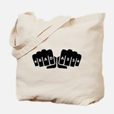 Bad Ass Knuckle Tattoo Tote Bag