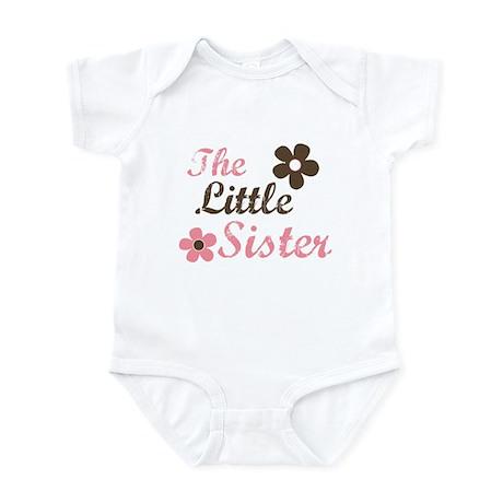 the little sister pink brown flower Infant Bodysui