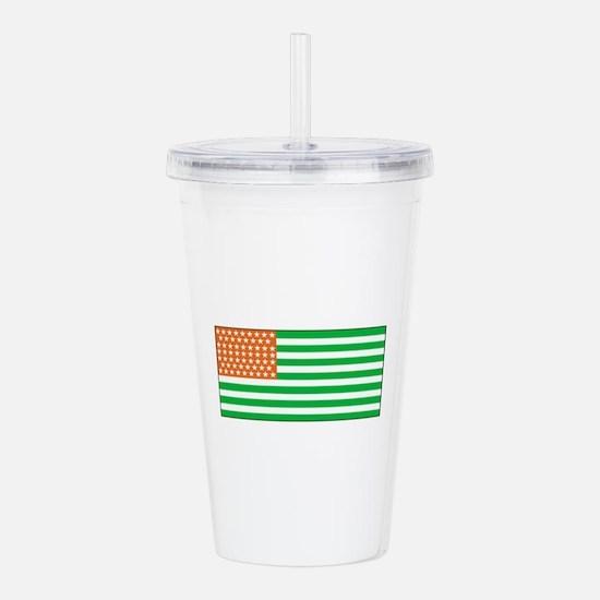 Irish American Flag 1 Acrylic Double-wall Tumbler