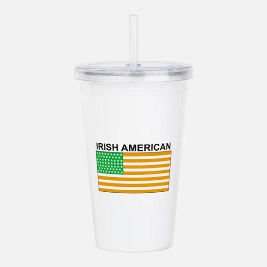 Irish American Flag 3 Acrylic Double-wall Tumbler