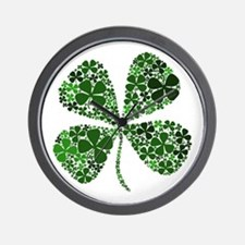 Infinite Luck Four Leaf Clover Wall Clock