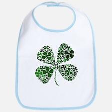 Infinite Luck Four Leaf Clover Bib
