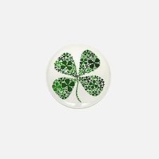 Infinite Luck Four Leaf Clover Mini Button