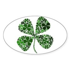 Infinite Luck Four Leaf Clover Oval Decal