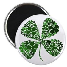 """Infinite Luck Four Leaf Clover 2.25"""" Magnet (10 pa"""
