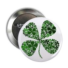 Infinite Luck Four Leaf Clover Button