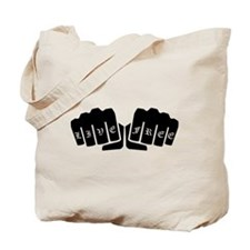 Live Free Knuckle Tattoo Tote Bag