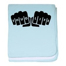 Thug Life Knuckle Tattoo baby blanket