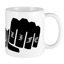 Love Life Knuckle Tattoo Mugs
