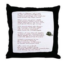 Army National Guard Mom Throw Pillow
