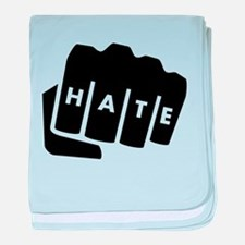 Hate Knuckle Tattoo baby blanket
