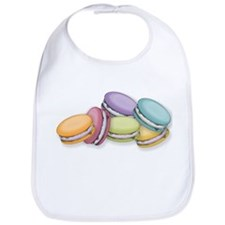 Colorful French Macaron Cookies Bib
