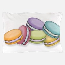Colorful French Macaron Cookies Pillow Case