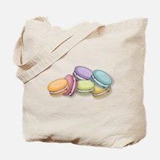 Colorful French Macaron Cookies Tote Bag