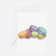 Colorful French Macaron Cookies Greeting Cards