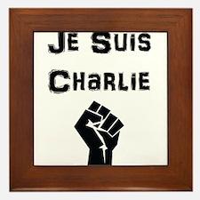 Je Suis Charlie Fist Framed Tile