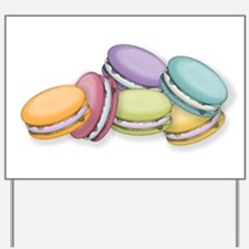 Colorful French Macaron Cookies Yard Sign