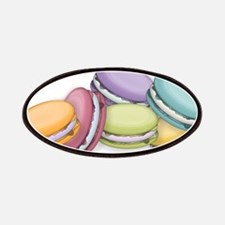 Colorful French Macaron Cookies Patches