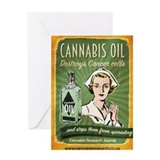 Cannabis Oil Kills Cancer Cells Greeting Card
