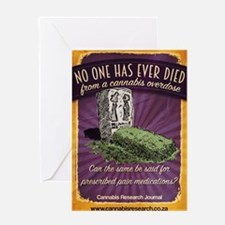Cannabis has never killed anyone Greeting Card