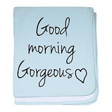 Good morning my love baby blanket