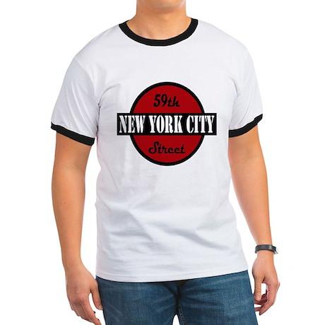 """59th Street NYC"" logo Ringer T"