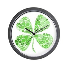 Infinite Luck Four Leaf Clover Wall Clock