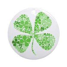 Infinite Luck Four Leaf Clover Ornament (Round)