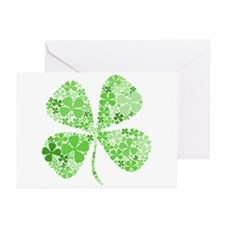 Infinite Luck Four Leaf Clover Greeting Cards (Pac