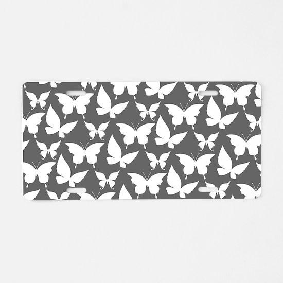 Gray and White Pretty Butte Aluminum License Plate