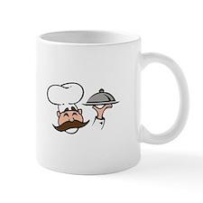CHEF WITH FOOD Mugs