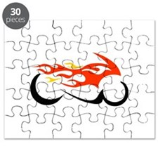 FLAMING MOTORCYCLE Puzzle