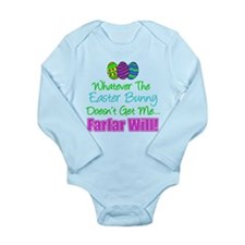 Easter Bunny Doesn't Farfar Will Body Suit