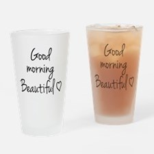 Good morning my love Drinking Glass