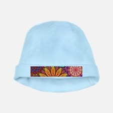Funky Floral Pattern baby hat