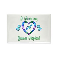 Love My German Shepherd Rectangle Magnet