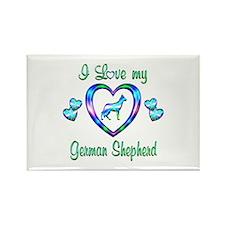 Love My German Shepherd Rectangle Magnet (10 pack)
