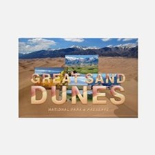 Great Sand Dunes Rectangle Magnet