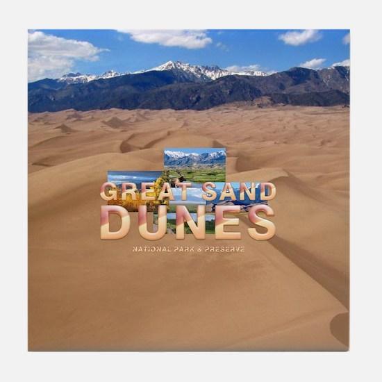 Great Sand Dunes Tile Coaster