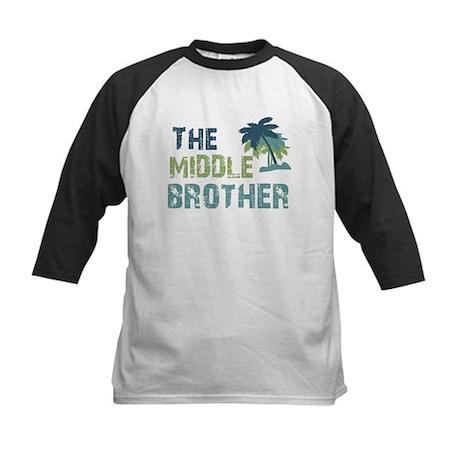 middle brother palm tree Kids Baseball Jersey