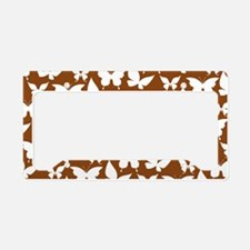 Brown and White Pretty Butter License Plate Holder