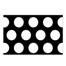 # Black And White Polka Dots Postcards (Package of