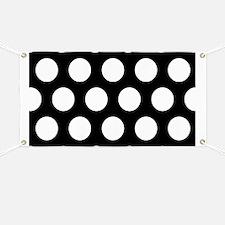# Black And White Polka Dots Banner