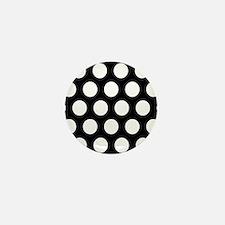 # Black And White Polka Dots Mini Button
