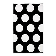 # Black And White Polka Dots Area Rug