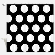 # Black And White Polka Dots Shower Curtain
